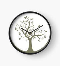 Give Back to Nature - Kaki Grunge Clock