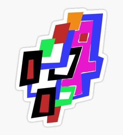 Geometric Man Sticker