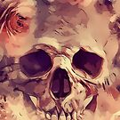 Floral Surreal Skull by Castiel Gutierrez