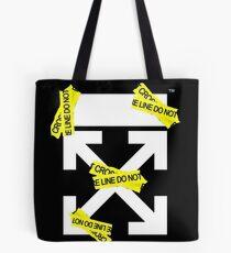Off White Line Cross Tote Bag