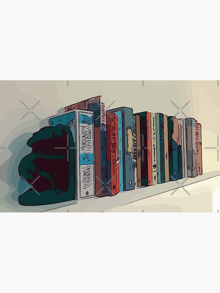 Bücher in einem Bücherregal von spiralpaper