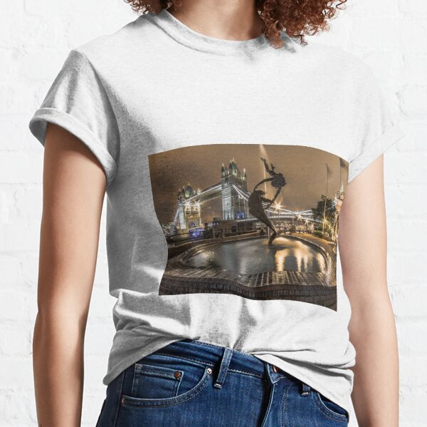 A Girl & A Dolphin, London Classic T-Shirt