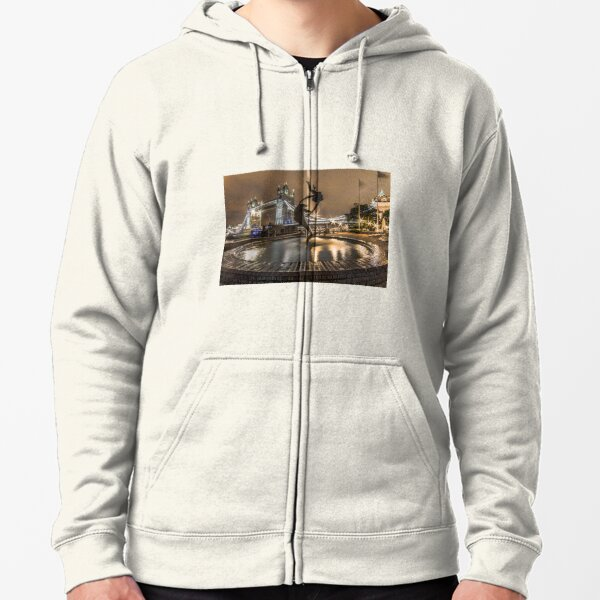 A Girl & A Dolphin, London Zipped Hoodie