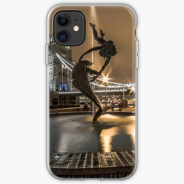 A Girl & A Dolphin, London iPhone Soft Case