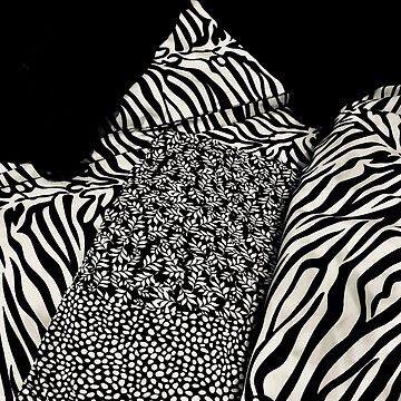 Ready for Bed in Black and White Abstract by TeAnne