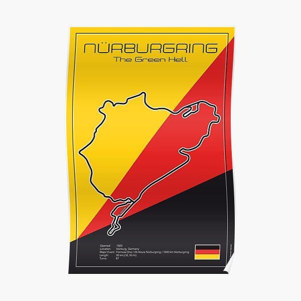 Champ de courses du Nürburgring Nordschleife Poster