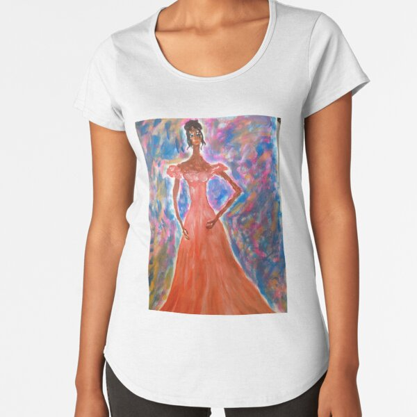 Princess In A Long Dress Premium Scoop T-Shirt