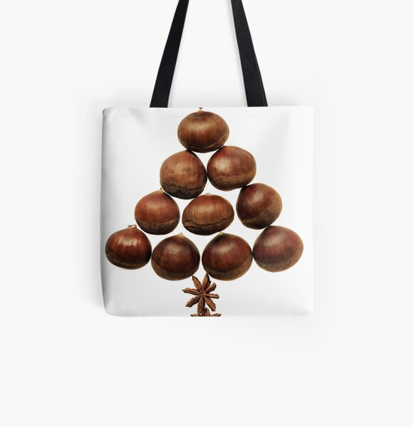 www.lizgarnett.com - Christmas Chestnuts All Over Print Tote Bag
