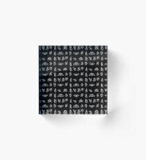 Hand Signals - White Acrylic Block