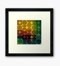 Circles with acrylic texture Framed Print