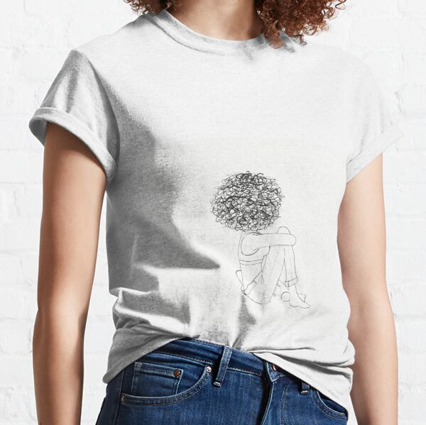Curly hair girl Classic T-Shirt