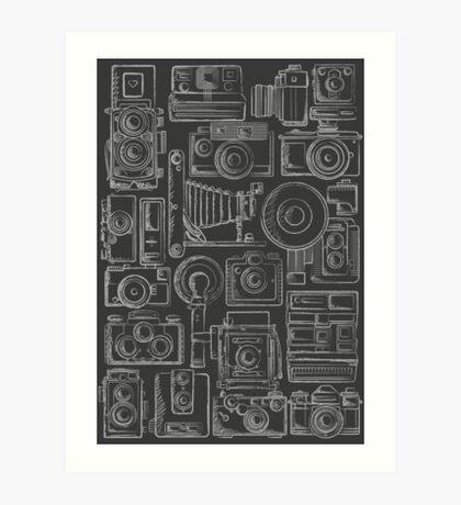 Paparazzi Grey Art Print