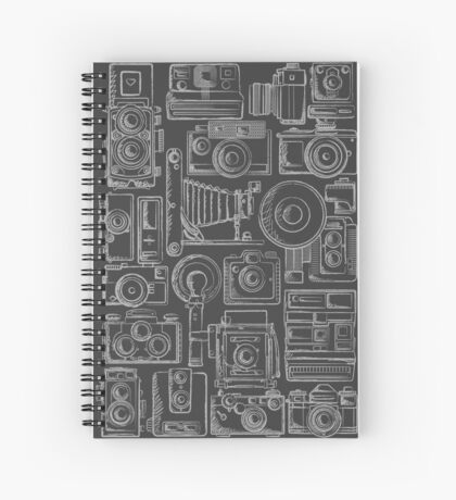 Paparazzi Grey Spiral Notebook