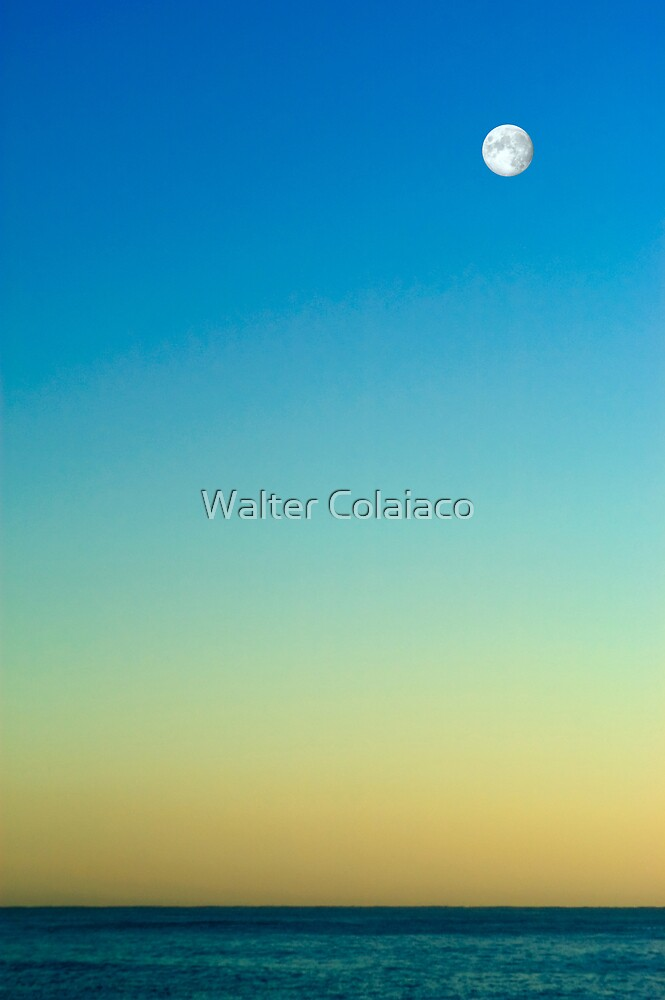 Moon Seascape I by Walter Colaiaco