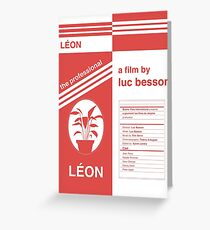 Léon: the professional fan poster Greeting Card