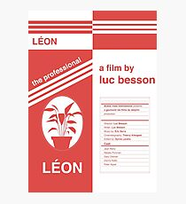 Léon: the professional fan poster Photographic Print