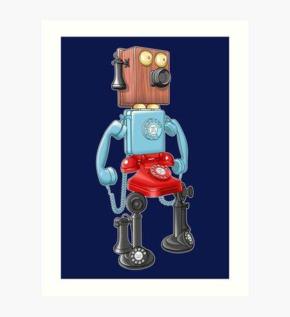 Smartphone Bot 8000 Art Print