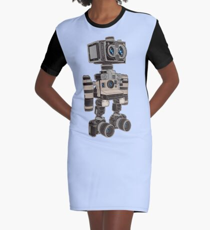 Camera Bot 6000 Graphic T-Shirt Dress