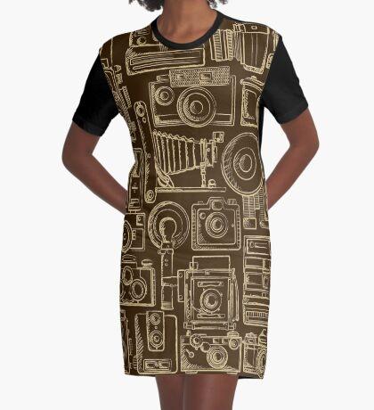 Paparazzi Beige Graphic T-Shirt Dress