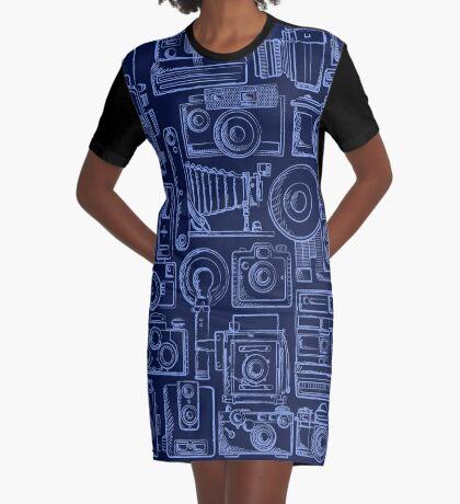 Paparazzi Blue Graphic T-Shirt Dress