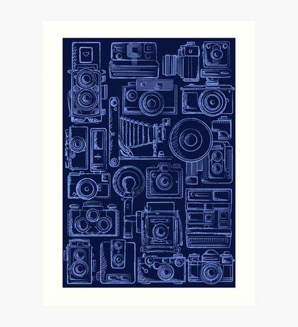 Paparazzi Blue Art Print