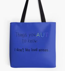 No Loud Noises Tote Bag
