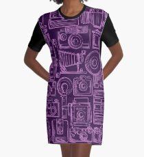 Paparazzi Purple Graphic T-Shirt Dress
