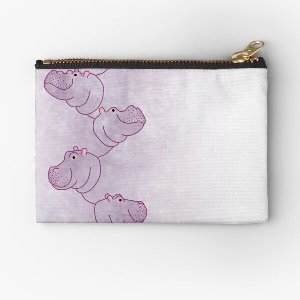 Hippoline - Purple Stripe Zipper Pouch
