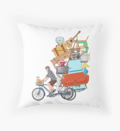 Life on the Move Throw Pillow