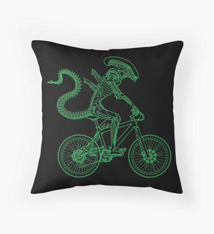 Alien Ride Throw Pillow