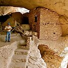 Gila Cliff Dwellings/New Mexico by Nancy Richard