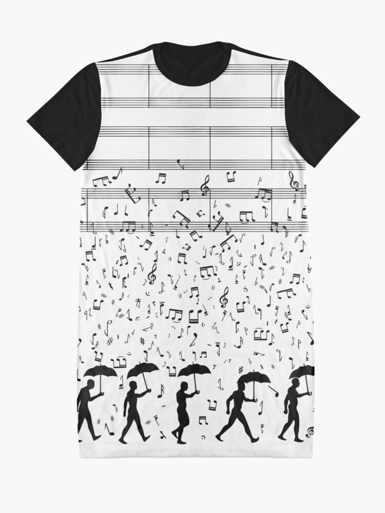 Alternate view of Singing in the Raaaain Graphic T-Shirt Dress