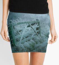 Frosty moonlit night Mini Skirt