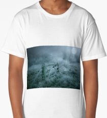 Frosty moonlit night Long T-Shirt