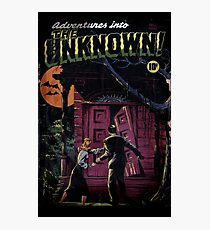 INTO THE UNKNOWN - SCARY RETRO POP ART Photographic Print