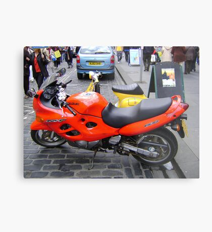 orange motorbike Metal Print
