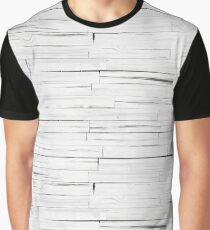 White Wooden Planks Wall Graphic T-Shirt