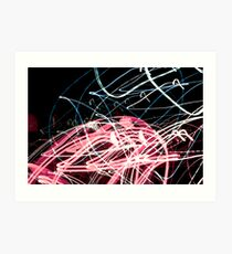 Light trail art  Art Print