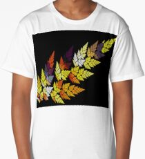 Yellow Pink Leaves Long T-Shirt