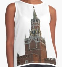 The famous Spasskaya tower of Moscow Kremlin, Russia Contrast Tank
