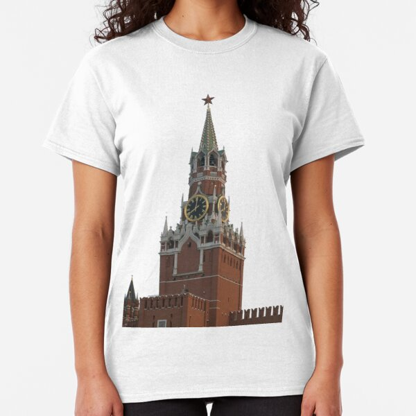The famous Spasskaya tower of Moscow Kremlin, Russia Classic T-Shirt