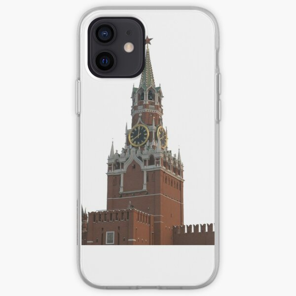 The famous Spasskaya tower of Moscow Kremlin, Russia iPhone Soft Case