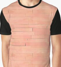Peach Wooden Planks Wall Graphic T-Shirt