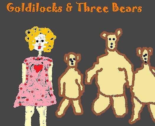 Goldilocks & Three Bears by monica98