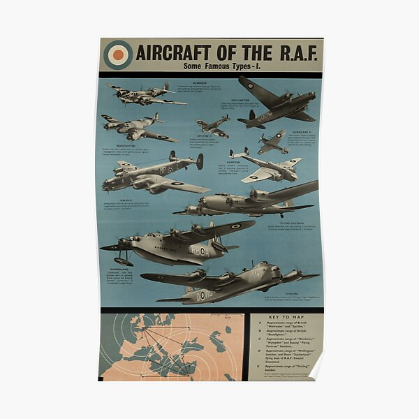 Aircraft of the R.A.F. [1] Poster