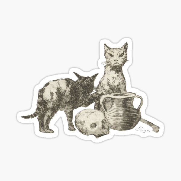 The Witch's Cats by Francisco de Goya Sticker