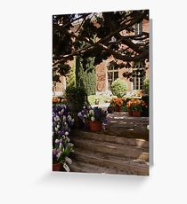 Garden Steps with Hyacinthus and Tulips Greeting Card