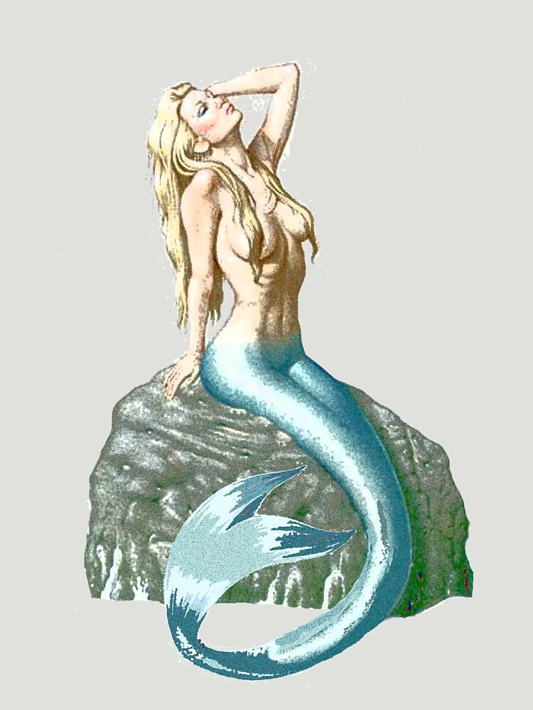 Mermaid on the Rocks by antsp35