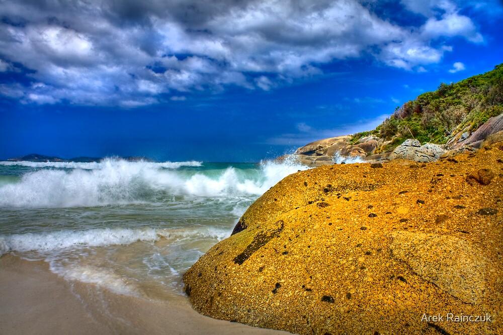 Rock on a beach by Arek Rainczuk