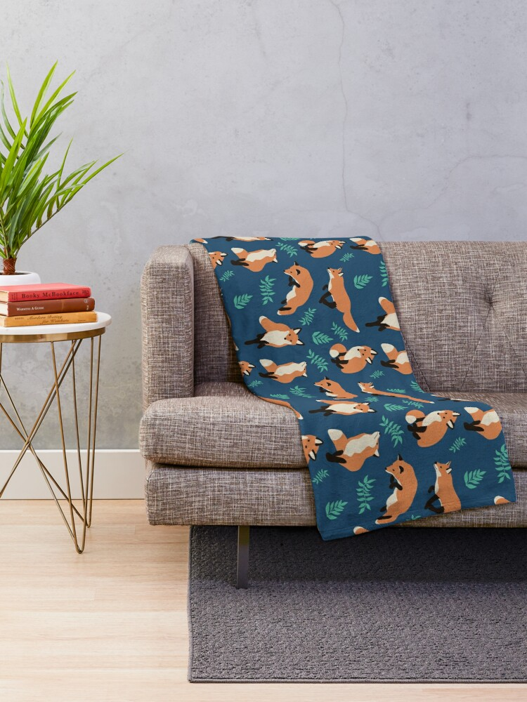 Alternate view of Fox style Throw Blanket